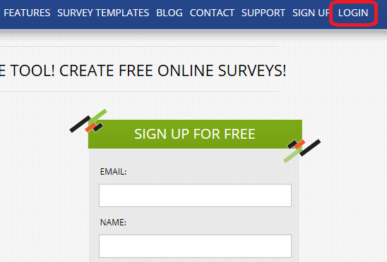 Free survey software registration